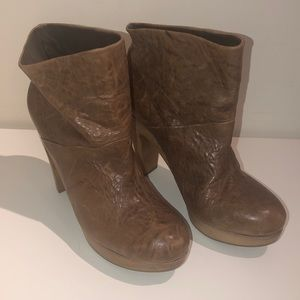 Theory Leather Booties